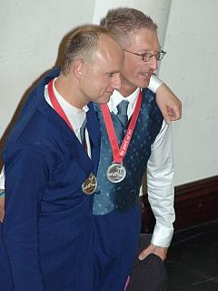 Interview mit Peter und Stefan, Tänzer, nach Verleihung der Silbermedaille in der Juniorenklasse
